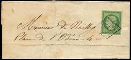 Let EMISSION DE 1849 - 2    15c. Vert, Obl. GRILLE S. LSC 9/5/51, Très Bien Margé, TB. M - 1849-1876: Classic Period