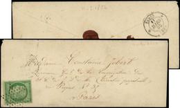 Let EMISSION DE 1849 - 2    15c. Vert, Filet Coupé En Un Point, Obl. ETOILE S. Env. De Mars 1852, B/TB - 1849-1876: Classic Period
