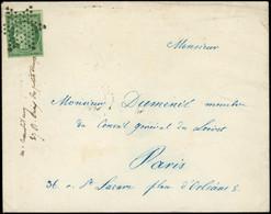 Let EMISSION DE 1849 - 2b   15c. Vert FONCE, Obl. ETOILE S. Env. Locale 13/4/53, TB - 1849-1876: Classic Period