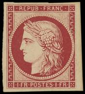* EMISSION DE 1849 - R6f   1f. Carmin Foncé, REIMPRESSION, TB - 1849-1850 Ceres