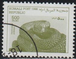 Somalia 1998 Col 04/08 Sello * Fauna Reptiles Black Mamba (Dendroaspis Polylepis) Cenicienta Somali Post Republic Stamps - Somalia (1960-...)