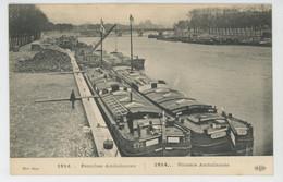 CROIX ROUGE - Red Cross - BATEAUX - GUERRE 1914-18 - Péniches Ambulances - Croix-Rouge