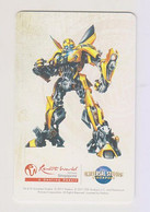Singapore Travel Transport Card Subway Train Bus Ticket Ezlink Unused Transformers Bumblebee - Wereld