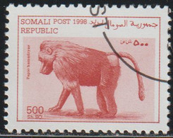 Somalia 1998 Col 04/07 Sello * Fauna Simios Monos Hamadryas Baboon (Papio Hamadryas) Cenicienta Somali Post Republic - Somalia (1960-...)