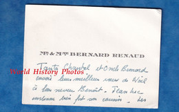 Carte De Visite Ancienne - Monsieur & Madame Bernard RENAUD - Généalogie - Visiting Cards