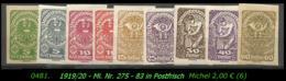 Österreich - Aus Mi. Nr. 275 - 83 -  In Postfrisch - Ongebruikt