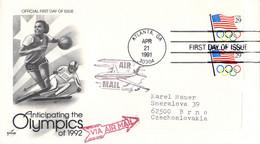 USA FDC 1991 Anticipating The Olympics Of 1992 (G133-59) - Verano 1992: Barcelona