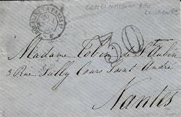 1863 - Lettre En Port Du  Avec AMB. Jour ERQUELINES  A PARIS 1°  + Taxe Dt 30 - 1849-1876: Klassieke Periode