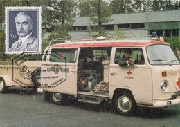 A9118- AMBULANCE STEIERMARK, 125 YEARS OF THE RED CROSS, USED STAMP 1988 PURKERSDORF REPUBLIK OESTERREICH STAMP POSTCARD - Salute