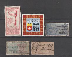 Europa - Vignetten, Stempelmarken ........., 19 Werte (incl. Einheiten) (2223) - Vrac (max 999 Timbres)