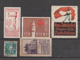 Europa - Vignetten, Stempelmarken ........., 20 Werte (incl. Einheiten) (2224) - Vrac (max 999 Timbres)
