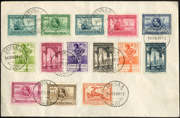 1929 Exposiciones De Sevilla Y Barcelona Edifil 434/47(º) SERIE COMPLETA V. Catalogo 248,00€ - Cartas