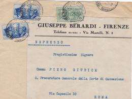1941 Fronte Di Espresso Da Firenze A Roma (5 Porti ?) - Marcophilia