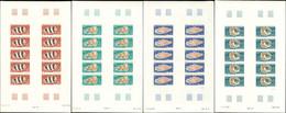 ** WALLIS ET FUTUNA 192/95 : Coquillages, FEUILLES De 25 NON DENTELEES, TB, Cote Maury - Unused Stamps