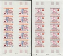 ** WALLIS ET FUTUNA PA 72/73 : J.O De Montréal, FEUILLES De 10 NON DENTELEES, TB, Cote Maury - Unused Stamps