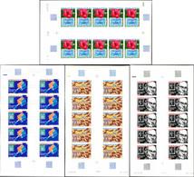 ** WALLIS ET FUTUNA PA 92/95 : Sir Rowland Hill, FEUILLES De 10 NON DENTELEES, TB, Cote Maury - Unused Stamps