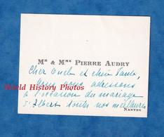 Carte De Visite Ancienne - NANTES - Monsieur & Madame Pierre AUDRY - Généalogie - Visiting Cards