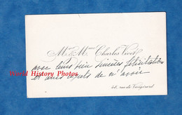 Carte De Visite Ancienne - PARIS 6e - Monsieur & Madame Charles VIVET - 48 Rue De Vaugirard - Généalogie - Visiting Cards
