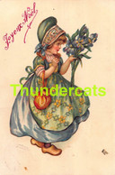 CPA  ILLUSTRATEUR ELLEN CLAPSADDLE ARTIST SIGNED CARD ( CARTE COUPEE - TRIMMED CARD ) - Clapsaddle