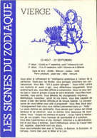 LES SIGNES DU ZODIAQUE  VIERGE  RV - Astronomia