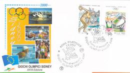 Italy FDC 2000 Sydney Olympic Games  (G133-59) - Summer 2000: Sydney