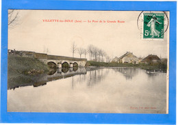 39 JURA - VILLETTE LES DOLE Le Pont De La Grande Route, Aquarellée (voir Description) - Altri Comuni