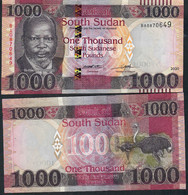 SOUTH SUDAN NLP  1000 POUNDS 2020 Signature 6  #BA    UNC. - South Sudan