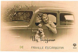 80  UN BONJOUR  DE  FRIVILLE  ESCARBOTIN  CPM  TBE   106 - Friville Escarbotin