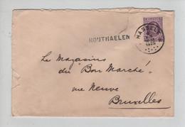 REF4450/ TP 198 Albert Houyoux S/Lettre C.Hasselt 1925 + Griffe Houthaelen (Houthalen)  > BXL - Linear Postmarks