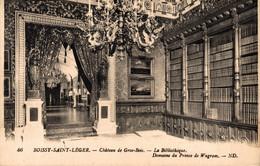 N°84917 -cpa Boissy Saint Léger -gros Bois- Château Du Prince De Wagram-la Bibliothèque- - Boissy Saint Leger