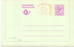 Belgique Carte-lettre N° 43 AF Neuve - Letter-Cards