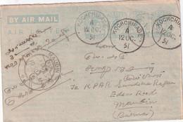 CEYLAN 1951    ENTIER POSTAL/GANZSACHE/POSTAL STATIONERY LETTRE DE KOCHCHIKADE - Sri Lanka (Ceylon) (1948-...)