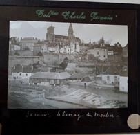 Semur-en-Auxois ( 21 ) - Le Barrage Du Moulin - Superbe Plaque De Verre Début XX ème - TBE - Diapositivas De Vidrio