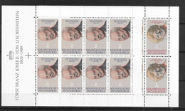 1990 MNH Liechtenstein Mi 988-89  Postfris** - Bloques & Hojas