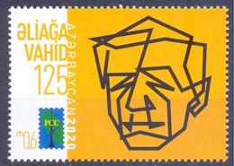 2020. Azerbaijan, RCC, A. Vahid, Poet, 1v, Mint/** - Azerbaiján