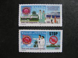 """Wallis Et Futuna: TB Paire De Timbres Autoadhésifs """"Covid-19"""" De 2020 .Neufs XX . - Unused Stamps"""