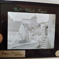 Semur-en-Auxois ( 21 ) - Le Vieux Château - Plaque De Verre Début XX ème - TBE - Diapositivas De Vidrio