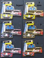 1 PINS SUPERBE PIN'S FERRARI, PORCHE,ALPINE RENAULT, DORE, 6,5cm QUE LE N° 6 - Ferrari