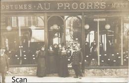 """France ? - Belgique ? - Costumes - Manteaux - """"Au Progrès"""" - C.P. Photo Animée De Près à Localiser - Andere"""