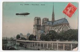 Zeppelin, über Paris, Notre-Dame, Gest.1909, - Zeppeline