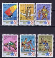 Libya Space 1983 Intelsat, Olympic Games Los Angeles  Nice Set - Libya
