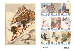 Ukraine 2021, Mountaineering, Sheetlet Of 9v - Ukraine