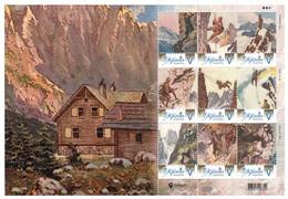 Ukraine 2020, Mountaineering, Mont Blanc, Sheetlet Of 9v - Ukraine