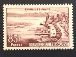 Timbre 1193 Evian 85f, Neuf Sans Charnière Cote 4,50€ - Ungebraucht