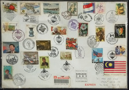 Thailand Registered Cover To Vietnam 2003 King Gold Stamp & Other Countries Joined Bangkok World Philately Exhibition - Thailand