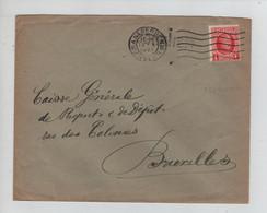 REF4452/ TP 256 Albert Houyoux S/L. C.Antwerpen 1929 + Griffe Bornhem (Bornem) > BXL - Linear Postmarks