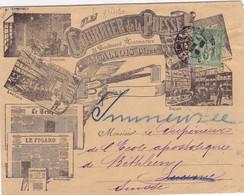 24719# SAGE LETTRE ILLUSTREE COURRIER DE LA PRESSE LE TEMPS FIGARO Obl PARIS 1900 LUCERNE IMMENSEE SUISSE - 1877-1920: Periodo Semi Moderno