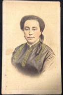 CDV Portugal - Mulher Aguarelada * Femme Aquarelle * Watercolor Woman - Old (before 1900)