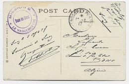 TRESOR ET POSTES 601 1917 CARTE EGYPTE + CACHET VIOLET MISSION B BASE DE SUEZ LE VAGUEMESTRE - WW I
