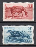 - SARRE / SAARLAND N° 253/54 Neufs * MH - Journée Du Cheval 1949 - Cote 33,00 € - - Neufs